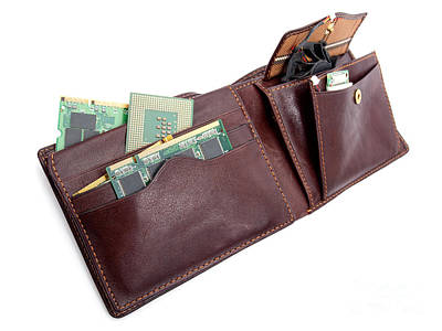 Leather Purses Photograph - Electronic Wallet by Sinisa Botas