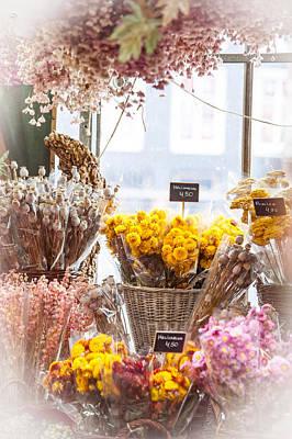 Flower Design Photograph - Elegance. Amsterdam Flower Market by Jenny Rainbow