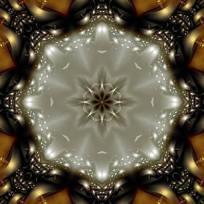 Elegant Fractal Kaleidoscope  Print by Gina Lee Manley