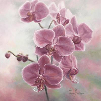 Elegant Orchids Original by Lucie Bilodeau