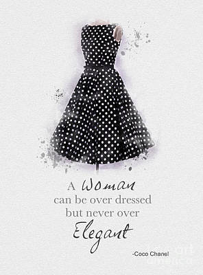Hollywood Mixed Media - Elegant by Rebecca Jenkins