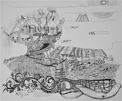 Walkway Drawing - Elemental by Frank Williams
