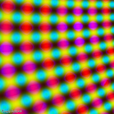 Elementary Particle Annihilation. 2013 80/80 Cm.  Original by Tautvydas Davainis