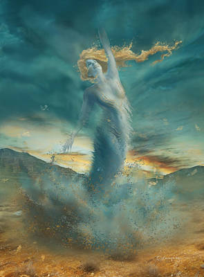 Fantasy Digital Art - Elements - Wind by Cassiopeia Art