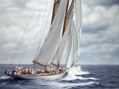 J Boat Painting - Eleonora Wrapped In Gray by Julia O'Malley-Keyes