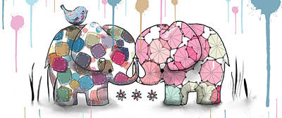 Valentines Day Digital Art - Elephant Confection by Karin Taylor