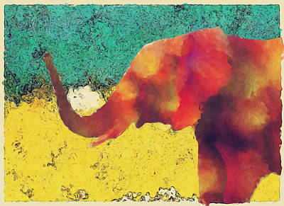 Elephant - Happened At The Zoo Print by Jack Zulli