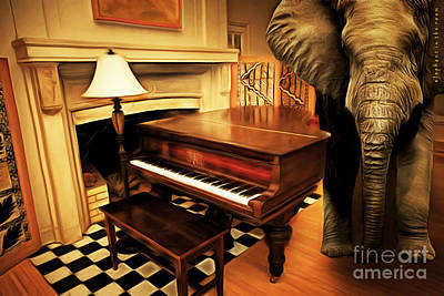 Elephant In The Room Digital Art - Elephant In The Room 20141225 by Wingsdomain Art and Photography