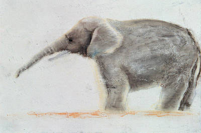 Lonely Painting - Elephant  by Jung Sook Nam