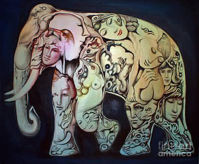 Elephant Print by Kritsana Tasingh
