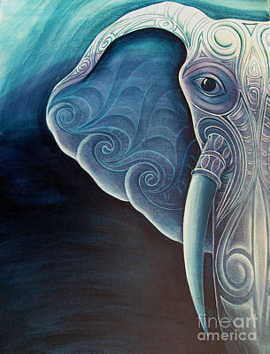 Delicate Details Painting - Elephant by Reina Cottier