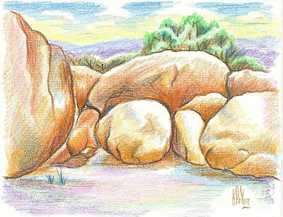 Red Rock Drawing - Elephant Rocks State Park II  No C103 by Kip DeVore