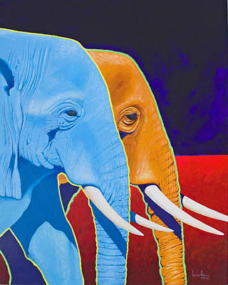 Poachers Painting - Elephant Walk by Keith Alway