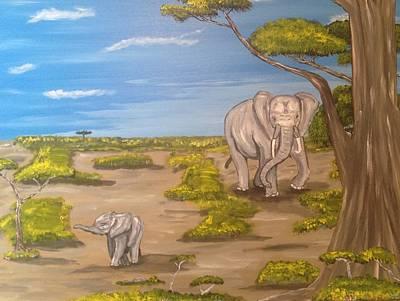 Elephants Print by Scott Wilmot