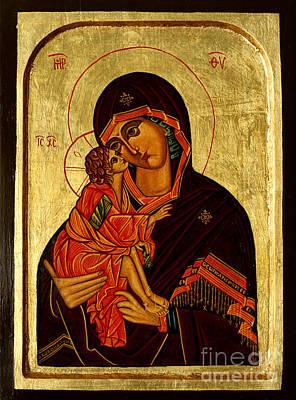 Eleusa IIi Icon Print by Ryszard Sleczka
