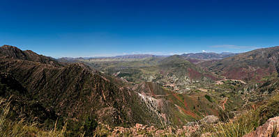 Inca Photograph - Elevated View Of A Valley, Inca Trail by Panoramic Images