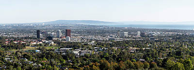 Marina Del Rey Photograph - Elevated View Of Buildings, West Los by Panoramic Images