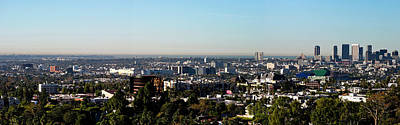 Beverly Hills Photograph - Elevated View Of City, Los Angeles by Panoramic Images