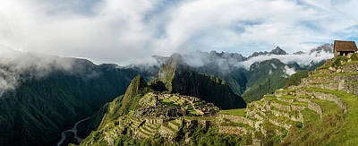 Inca Photograph - Elevated View Of Inca Ruins, Machu by Panoramic Images