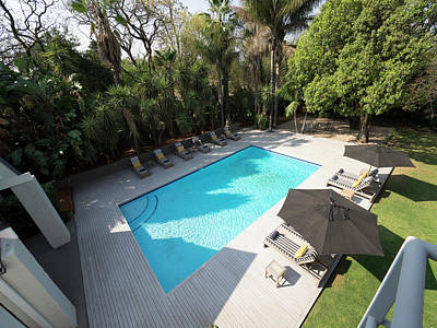 Chateau Photograph - Elevated View Of Swimming Pool At Athol by Panoramic Images