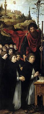Pieter Coecke Van Aelst Painting - Eleven Worshipers With St James The Greater by Pieter Coecke van Aelst