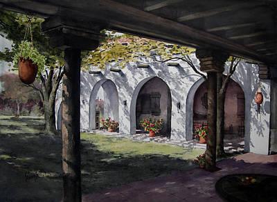 Pillars Painting - Elfrida Courtyard by Sam Sidders
