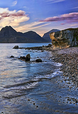 Highlands Photograph - Elgol Beach Sunset by Marcia Colelli
