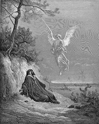 Testament Painting - Elijah Nourished By An Angel by Celestial Images