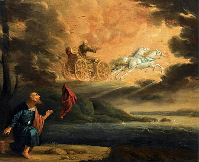 Elijah Painting - Elijah Taken Up Into Heaven In The Chariot Of Fire by Pieter Symonsz Potter