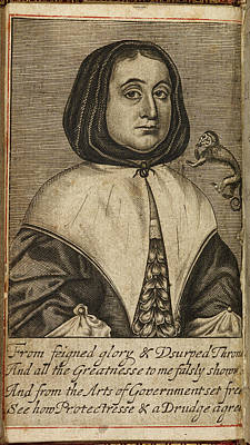 Elizabeth Cromwell Print by British Library