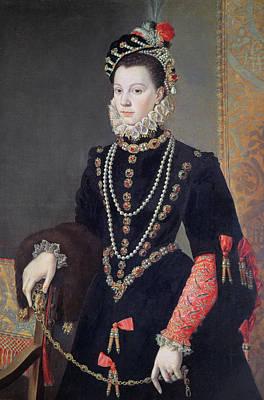 Elizabeth De Valois Print by Alonso Sanchez Coello