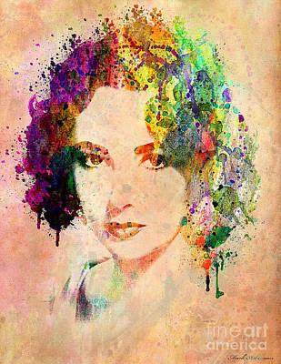 Elizabeth Taylor Print by Mark Ashkenazi