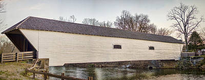 Carter Photograph - Elizabethton Covered Bridge by Heather Applegate