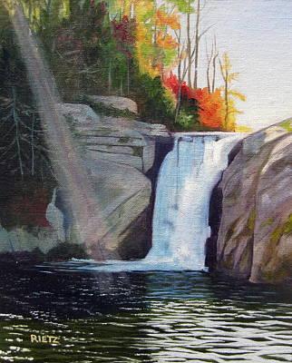 Ap Painting - Elk River Falls by Julia Rietz