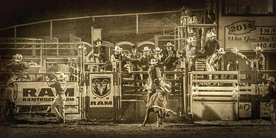 Elks Rodeo - 2014 Print by Caitlyn  Grasso