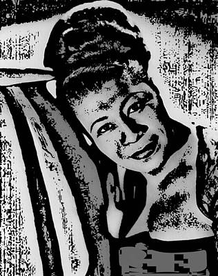 Songstress Digital Art - Ella Fitzgerald by Tanysha Bennett-Wilson