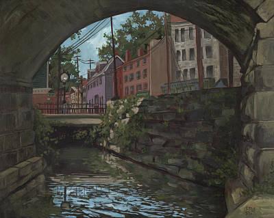 Edward Williams Painting - Ellicott City Bridge by Edward Williams