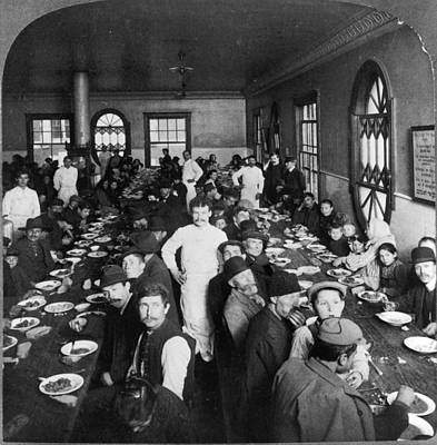 Dining Hall Photograph - Ellis Island Dining Hall by Granger