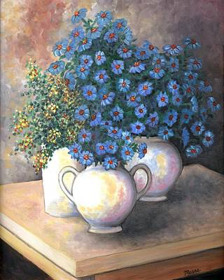 Eloquent Blues Print by Linda Mears