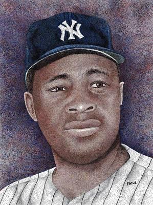 Baseball All Stars Drawing - Elston Howard by Rob Payne