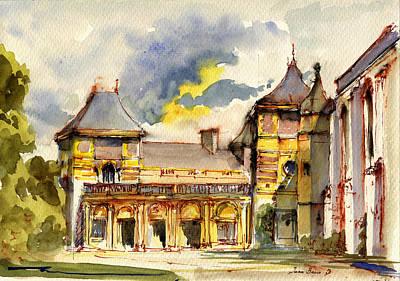 Winter Street Painting - Eltham Palace London by Juan  Bosco