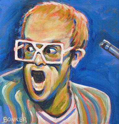 70s Painting - Elton John by Buffalo Bonker