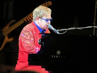 Elton John Live Print by Aaron Martens