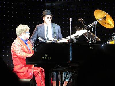 Elton Plays The Blues In Macon Ga Print by Aaron Martens