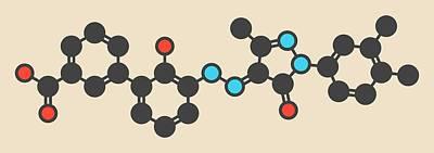 Eltrombopag Drug Molecule Print by Molekuul