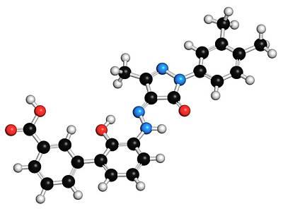Eltrombopag Thrombocytopenia Drug Print by Molekuul