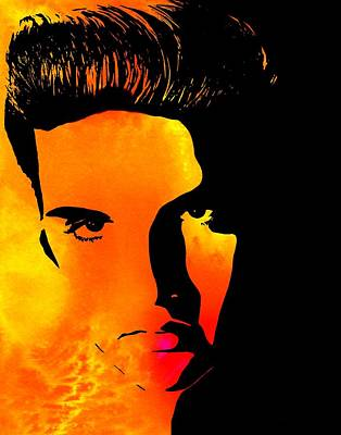 Elvis Presley Digital Art - Elvis 2 by Cindy Edwards