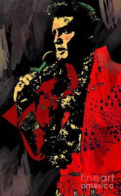 Music Digital Art - Elvis by Andrzej Szczerski