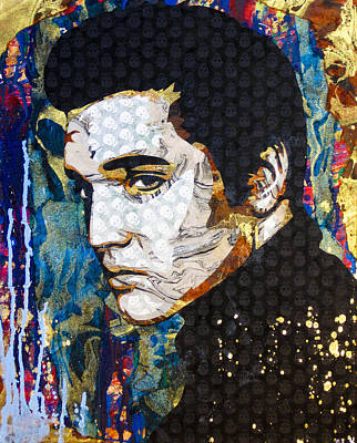 Stencil Art Painting - Elvis by Bobby Zeik