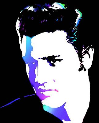 Elvis Print by Cindy Edwards